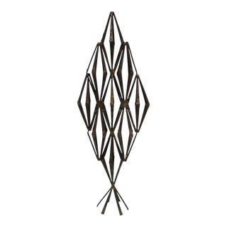 Brutalist Abstract Metal Sculpture For Sale