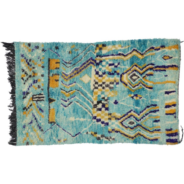 Textile Contemporary Berber Moroccan Rug - 5′ × 8′ For Sale - Image 7 of 7
