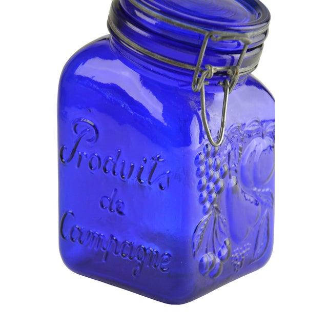 Cobalt Blue Glass Canister - Image 4 of 4