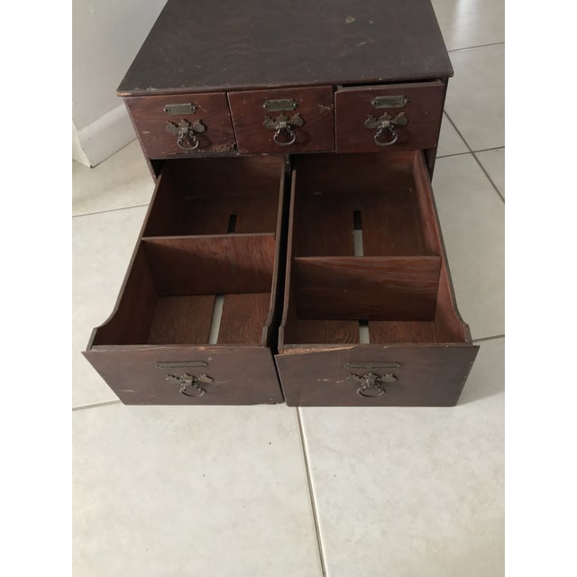 Antique 18th Chippendale Card File Cabinet Trunk For Sale - Image 4 of 13