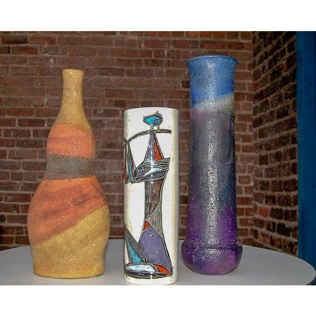 Mid-Century Modern Circa 1950 Mid-Century Modern Marcello Fantoni Ceramic Vases - Set of 3 For Sale - Image 3 of 8