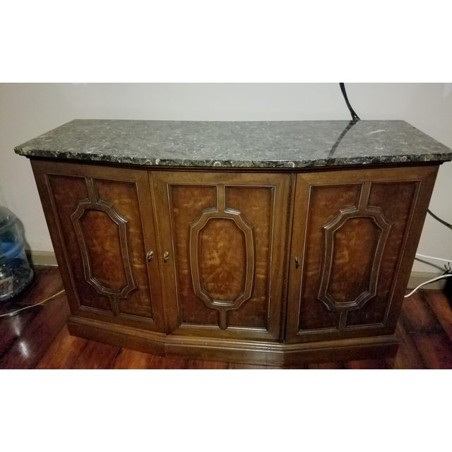 Henredon Sideboard Console Silver Cabinet W/Granite Stone Top - Image 2 of 8