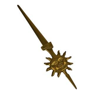 Brass Sun Letter Opener
