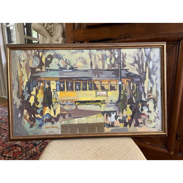 1954 Modernist Figurative Oil Painting by Louis Safer, Framed For Sale - Image 12 of 12