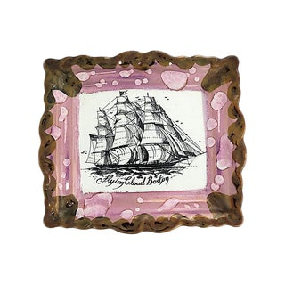 Antique Sunderland Lustre Ship Plaque