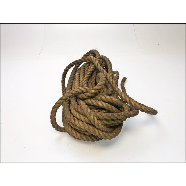 Industrial Vintage Nautical Woven Hemp Rope For Sale - Image 3 of 11