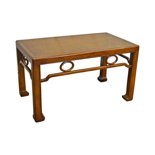 Mid-Century Modern James Mont Style Asian Influenced Side Table For Sale