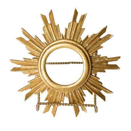 French Gilt Wood Sunburst Religious Relic - Image 1 of 6
