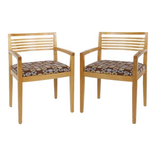 Joseph & Linda Ricchio Knoll Studio Ricchio Chairs in Beech - A Pair For Sale