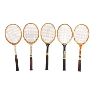 Set of Five Vintage Tennis Rackets For Sale