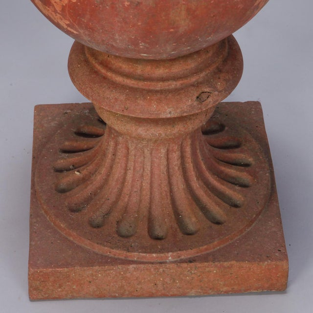 Mediterranean 1930s Large Round Terra Cotta Finial on Stand For Sale - Image 3 of 6