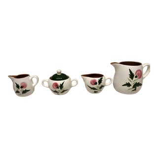 1950s Vintage Sugar Bowl and Creamers - Set of 4 For Sale