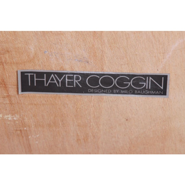 Gold Milo Baughman for Thayer Coggin Maple and Brass Cube Side Table For Sale - Image 8 of 9