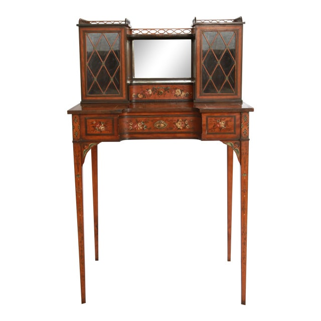 19th Century Federal Hand-Painted Secretary Desk For Sale