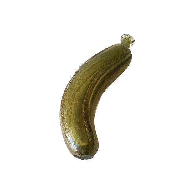 Seguso Murano Green & Gold Dust Banana For Sale - Image 5 of 6