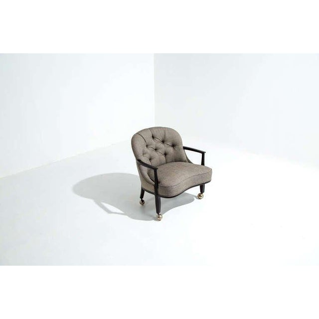 Dunbar Furniture Edward Wormley for Dunbar Janus Armchairs, Set of Four, 1950s For Sale - Image 4 of 7