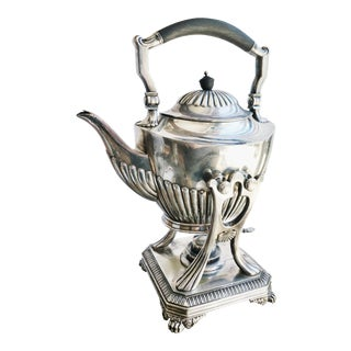 Antique Tiffany & Co Silver Tilting Teapot From Jay Gould's Private Railroad Car Atalanta For Sale