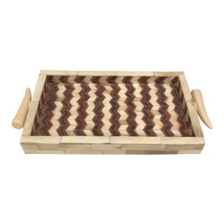 Zig Zag Bone Tray For Sale