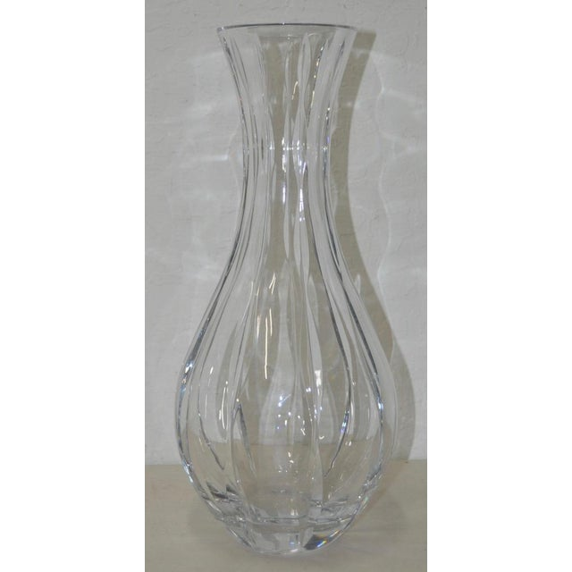 Nambe Fine Crystal Glass Vase Chairish