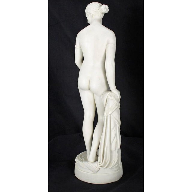 American Classical 19th Century Fine Porcelain Nude Woman Figurine Tall, Dated 1853 For Sale - Image 3 of 10