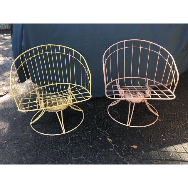 Mid-Century Metal Bouncer Chairs - A Pair - Image 2 of 4