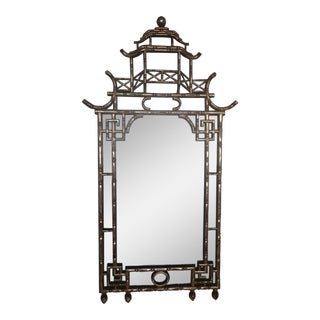Chinoiserie-Style Wall Mirror For Sale