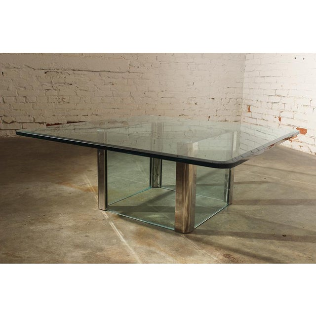 This fabulous chrome and glass square coffee table is another in our offerings from The Pace Collection. The Pace...
