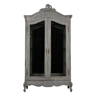 French Louis XV Style Two-Door Display Cabinet For Sale