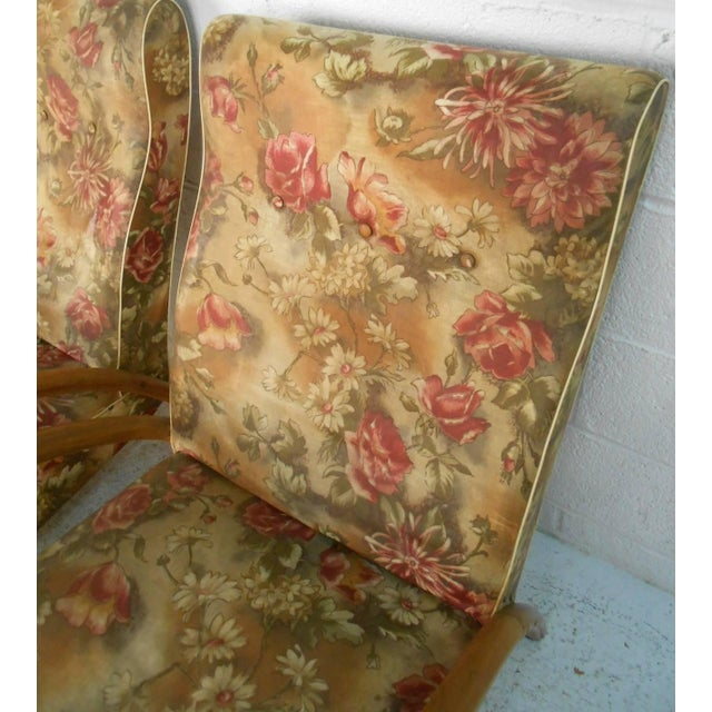 Red Pair of Paolo Buffa Style Armchairs For Sale - Image 8 of 9