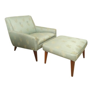 Mid-century Lounge Chair with Matching Ottoman