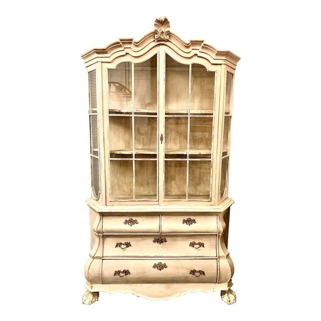 19th Century Painted Dutch Bombé Cabinet For Sale