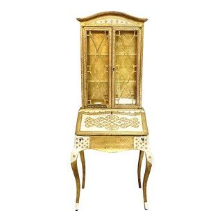 Vintage Florentine Gilt Secretary For Sale