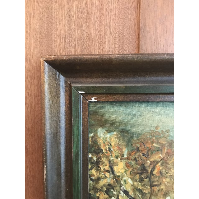 Vintage Framed Oil Painting of a Tree, Signed For Sale In Los Angeles - Image 6 of 8