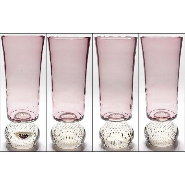 Erickson Glass Co. Mid-Century Modern Erickson Studio Bullicante Art Glass Vase For Sale - Image 4 of 9