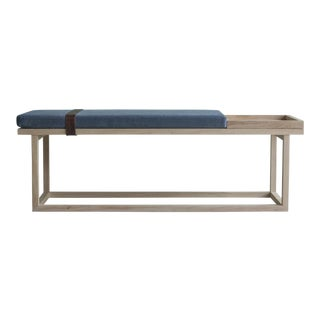 Ebb and Flow Tray Bench in Violet Grey Velvet For Sale