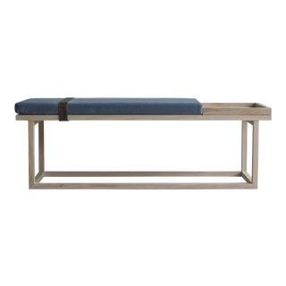 Ebb and Flow Tray Bench in Violet Grey Velvet For Sale