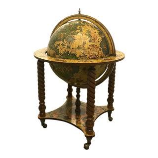 16th Century Style Italian World Globe Bar Cart