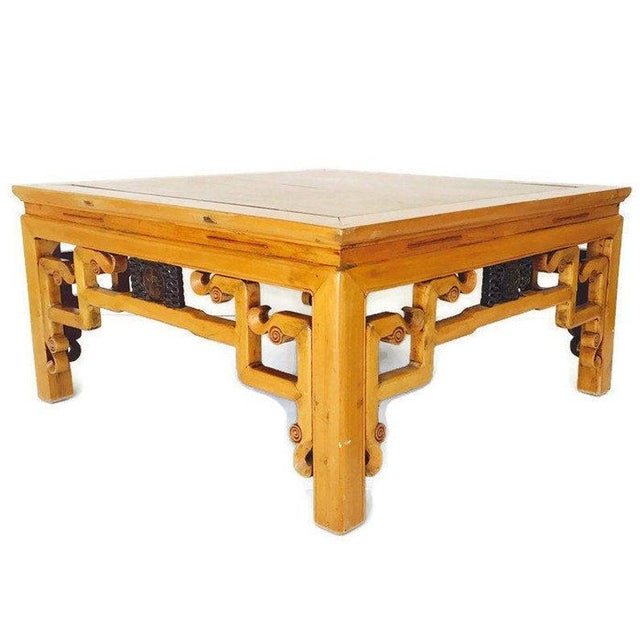 1940s Vintage 1940s Tibetan/Chinese Elm Coffee Table For Sale - Image 5 of 13