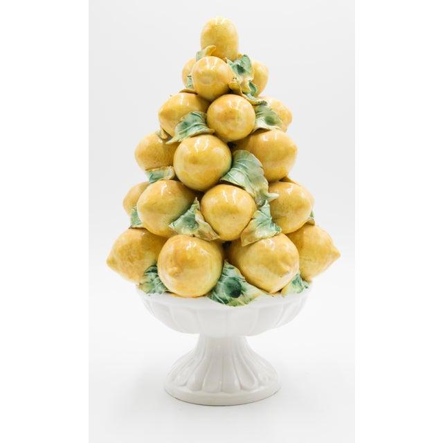 Farmhouse Vintage Italian Majolica Lemon Topiary For Sale - Image 3 of 7