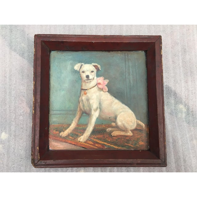 Vintage Tray with Portrait Painting of a Dog - Image 2 of 5