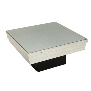 Pierre Cardin Side Table With a Graduated Aluminum Top For Sale