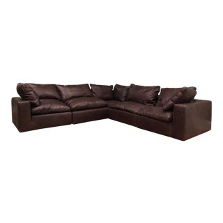 Restoration Hardware Cloud Leather Modular Sectional For Sale