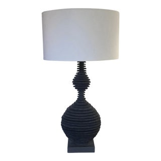 """Strata"" Slate Tall Double Sphere Lamp For Sale"