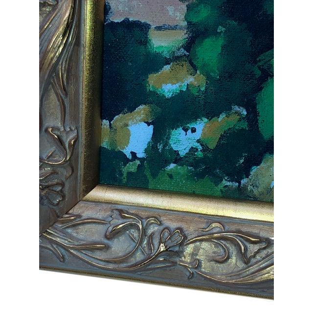 Vintage French Painting Replica of the Bay of l'Estaque by Cezanne For Sale - Image 4 of 6