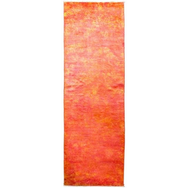 Orange Runner Rug For Sale - Image 4 of 4