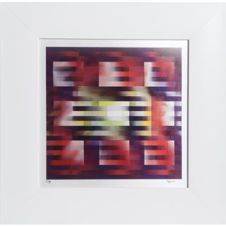 """""""Nine Squares"""" Contemporary Op Art Abstract Agamograph by Yaacov Agam, Framed For Sale"""