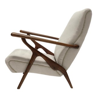Adjustable Lounge Chair Attributed to Carlo Mollino for Antonino Gorgone For Sale