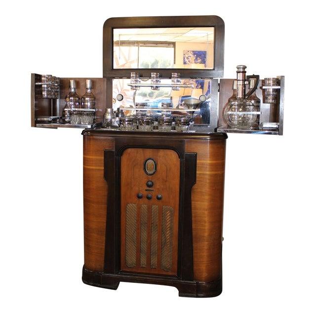 Philco Bar & Radio Cabinet For Sale