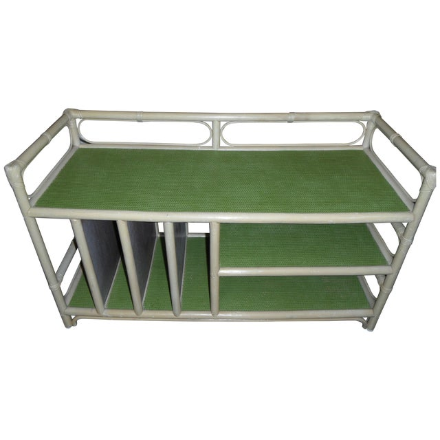 Rattan/Bamboo Vintage Storage Console - Image 1 of 7