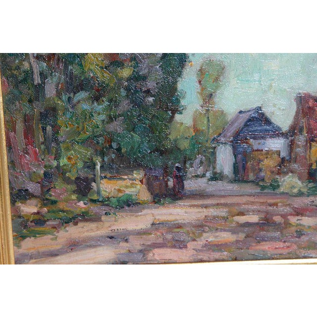 Paint American Impressionistic Oil on Board by Roy Brown (American, 1879-1956) For Sale - Image 7 of 13